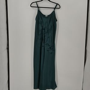 CABERNET Green Embroidered Nightgown Gown